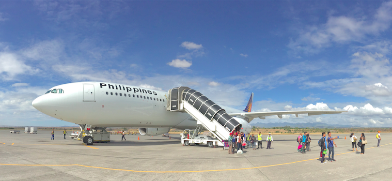 Philippines airlines on runway